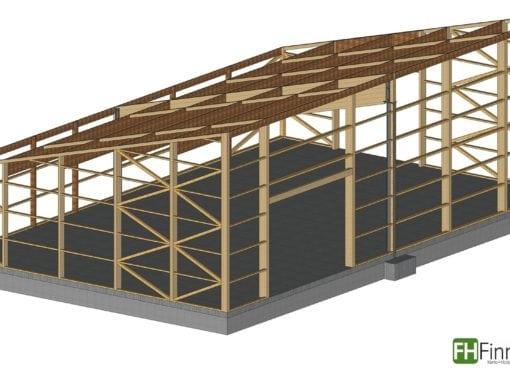 Holzhalle in Tröndel