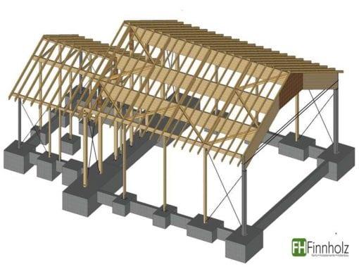 Holzhalle in Baiersbronn