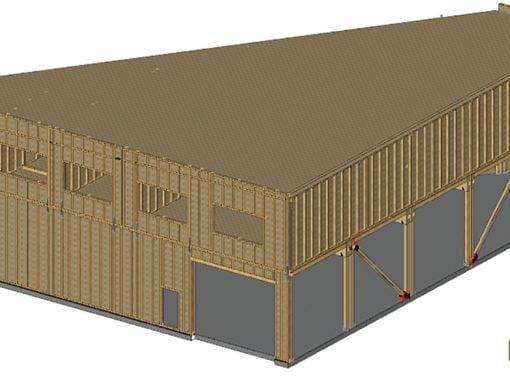 Holzhalle in Altena
