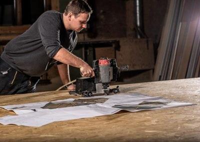 FH Finnholz Mitarbeiter Holzrahmenbauproduktion