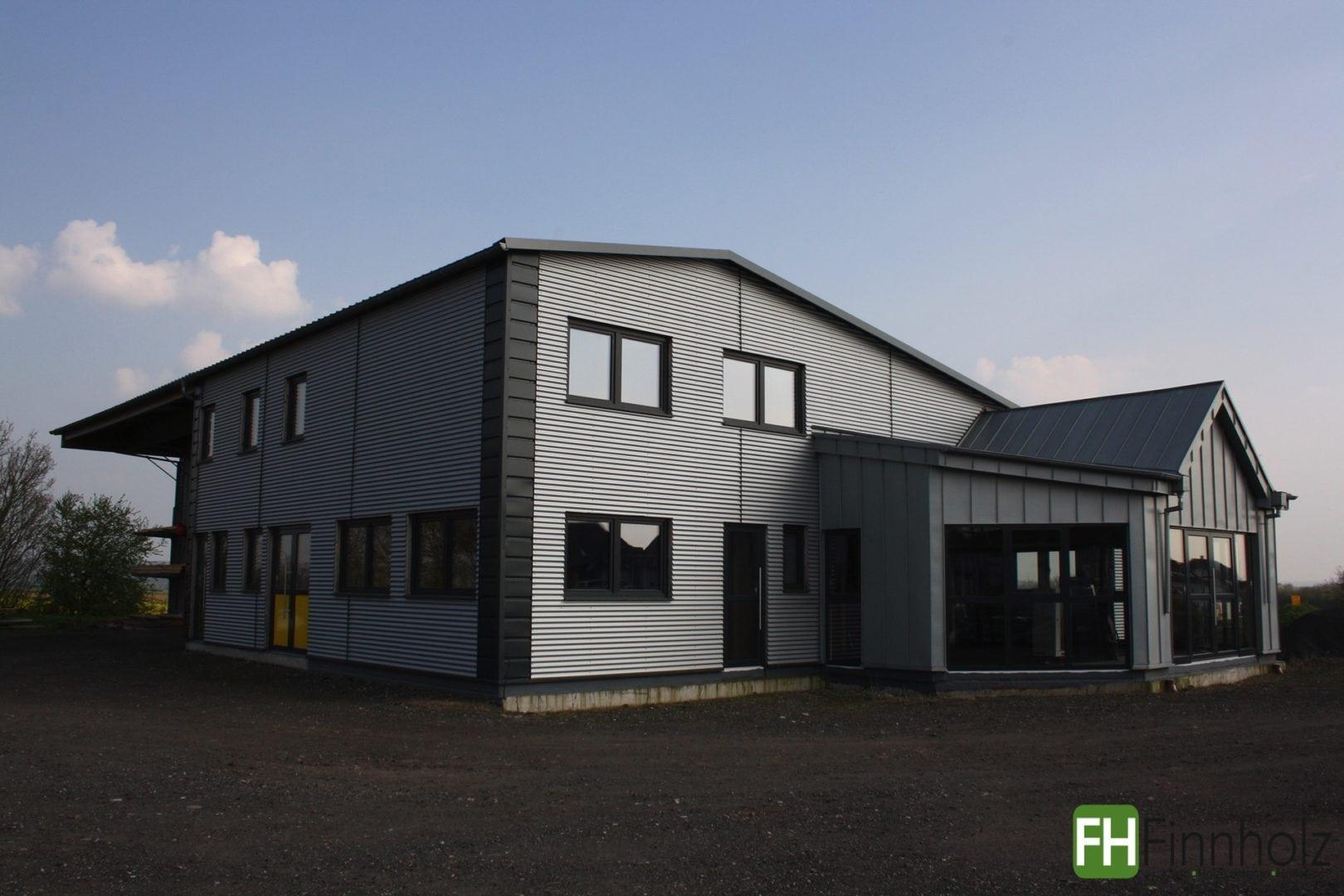 lagerhalle mit b ro in w lfersheim fh finnholz. Black Bedroom Furniture Sets. Home Design Ideas