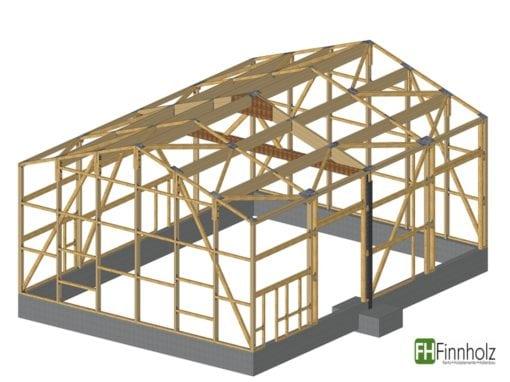 Holzhalle in Bilsen