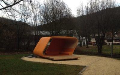 Kerto Elemente für Jugendpavillon in Wurmlingen