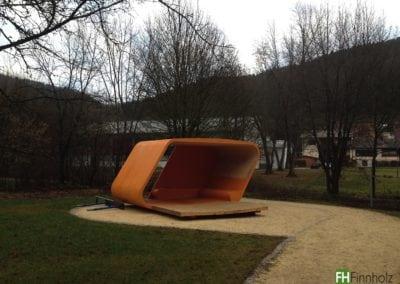 Kerto Elemente für Jugendpavillon Wurmlingen