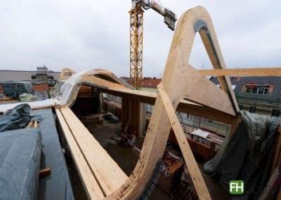 Kerto Elemente für Tonnendach in Berlin