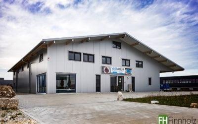 Dreigeschossige Lager- und Ausstellungshalle in Ellwangen