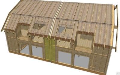 Produktion von Dach- und Wandelementen für Doppelhaus!