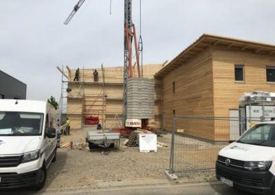 Lärchenfassade Holzhalle