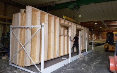 Viel los in unserer Holzrahmenbauproduktion!