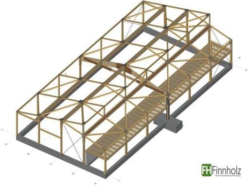 Holzhalle in Goch-Hassum