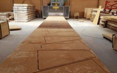 Zuschnitt von OSB Platten auf dem CNC Plattenbearbeitungszentrum!