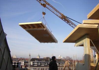 Aufstockung Dachelemente in Holzrahmenbauweise