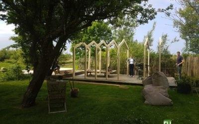 Kerto Rahmen für ein Gartenhaus aufSylt!