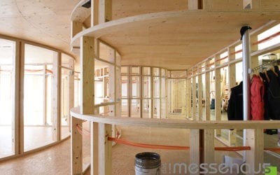 Neuen Firmenstandort mit Kerto Furnierschichtholz gestaltet