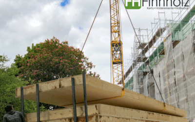 Holzrahmenbau- und Hohlkastendeckenelemente für Aufstockung