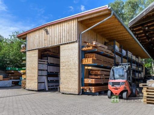 Lagerhalle für Baumaterial in Hamburg