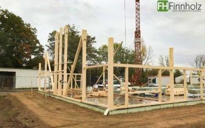 Baustart in Bürstadt – eingeschossige Bogensporthalle